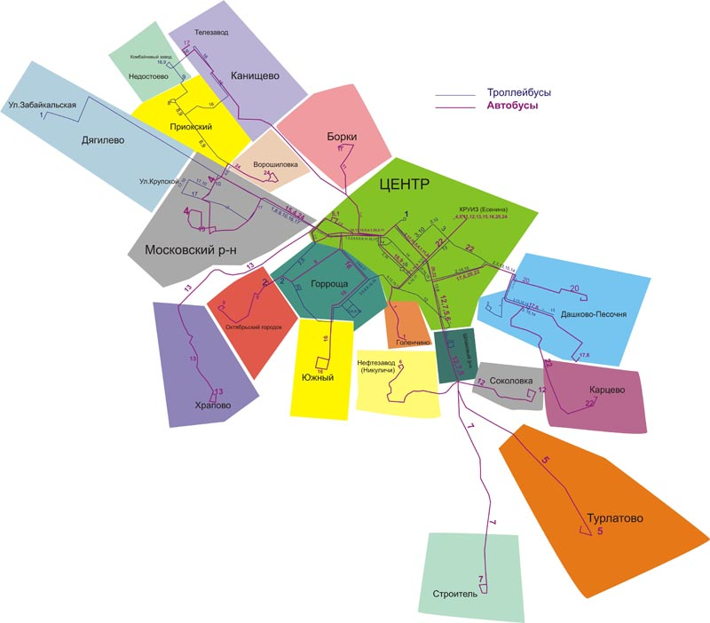 b маршруты городского /b